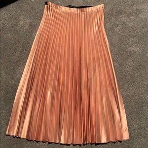 Zara Woman Pleated Midi Skirt